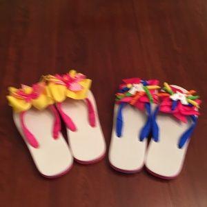 Hanna Andersson flip flops - 2 pair
